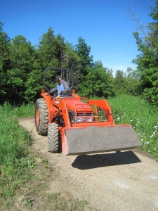 Fred on tractor